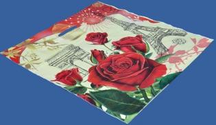 Цветы - пакет ПВД, вырубная ручка