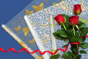 пленка для цветов прозрачная с рисунком